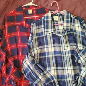 2 Faded Glory Plaid Button Ups - size 3x